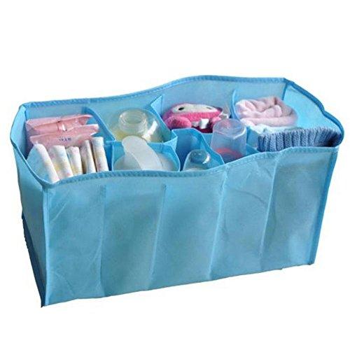 youpin Baby Windel Windel Wasser Flasche Trennwand Lagerung Organizer Wickeltasche (blau 7Zellen)