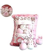TOPFAY 1Bag pluche mini-poppen pudding pluche dieren simulatie innovatieve snacks pop zacht sofa-kussen voor hoofddecoratie (haas)
