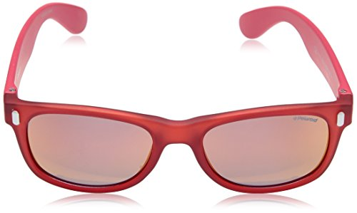 sol Rojo para Polaroid Gafas Brown P0115 de Red Crystal niños Rectangulares EwFaSFnq