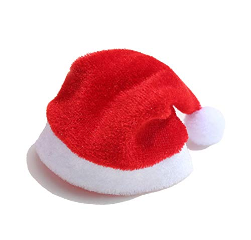 JuSir Mini Christmas Santa Hats for Cup, Wine Bottle, Ragdoll, Barbie Decorate (A Set of 10 Pieces) 4.3 x 2.7 x 0.2