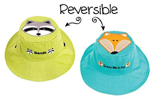 (FlapJackKids - Kids' Sun Hat - Raccoon/Fox Small (6mos - 2 yrs))