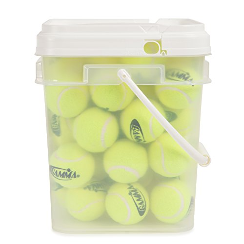 090852772996 - GAMMA Pressureless Tennis Ball Bucket| Case w/48 Practice Balls| Sturdy/Reusable/Portable Bucket to Replace Less Durable Tennis Mesh Bags| Ideal For All Court Types| Gamma Premium Tennis Accessories carousel main 3