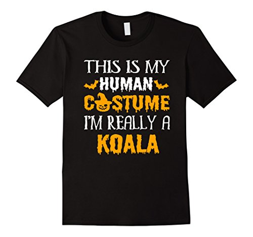 Mens This Is My Human Costume I'm Really KOALA Halloween Shirt 3XL Black - Creepy Koala Costume