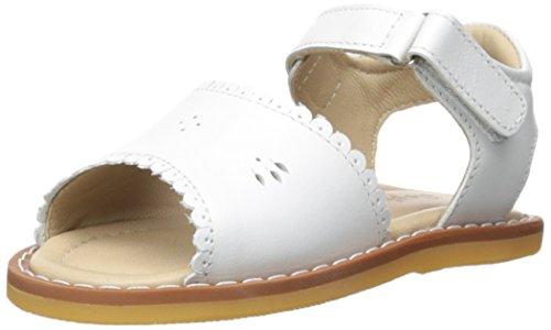 Elephantito Girls' Classic Sandal, White, 5 M US Toddler