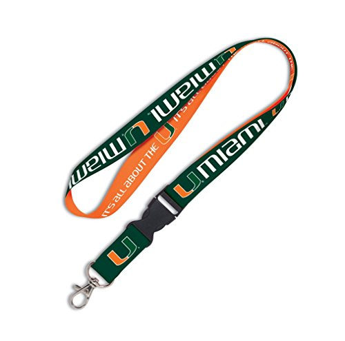 MIAMI HURRICANES OFFICIAL LOGO LANYARD KEYCHAIN