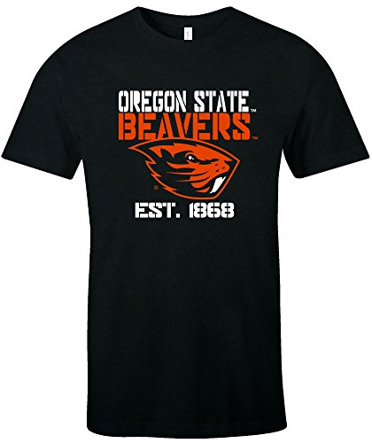 NCAA Oregon State Beavers Est Stack Jersey Short Sleeve T-Shirt, Black,XX-Large