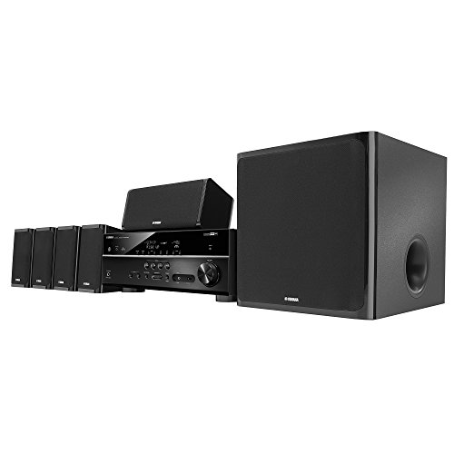 Yamaha YHT-5920UBL MusicCast Home Theater in a Box, Works wi
