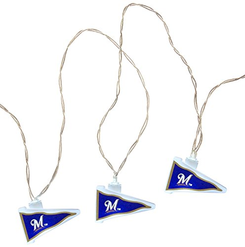 Milwaukee Brewers Led (MLB Milwaukee Brewers LED Pennant Party Lights)