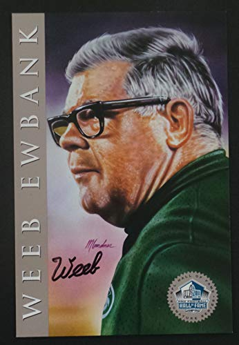 (Weeb Ewbank 1998 Pro Football Hall of Fame Platinum Signature Series NFL HOF Signed Autograph Limited Edition Card)