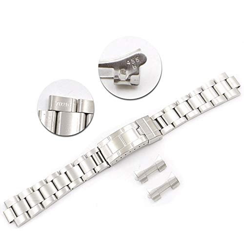 20mm Curved End Replacement Watch Band Strap Bracelet For Vintage Submariner Oyster 70216 455B (Bands Rolex Watch)