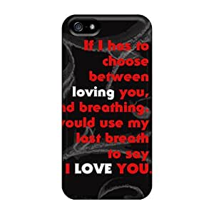 Awesome Love Flip Case With Fashion Design For Iphone 5/5s