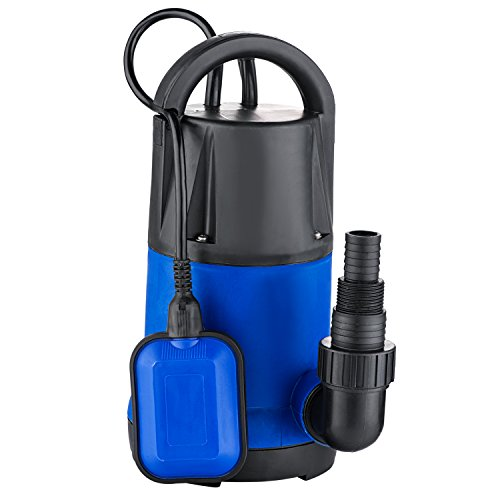 Sump Pumps 1HP Plastic Well Submersible Dirty Clean Water Transfer Pump Heavy Duty Utility Pump (1-HP Blue)