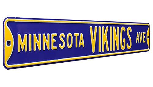 - Fremont Die NFL Minnesota Vikings Metal Wall Décor- Large, Heavy Duty Steel Street Sign