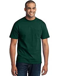 Men's Tall 50/50 Cotton/Poly T Shirt with Pocket