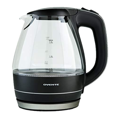 Ovente 1.5L BPA-Free Electric Kettle, Fast Heating with Auto Light Indicator,