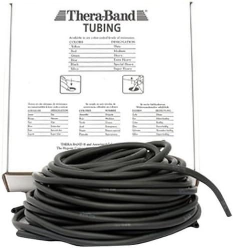 Thera Band Tubing übungsband Fitness Résistance 7,5 m spécial fortement Noir