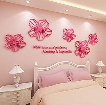 Fai da te adesivi murali fiore 3D sfondi romantici poster ...