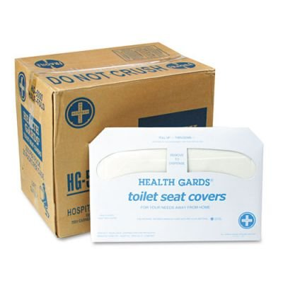 Hospital Specialty Health Gards Toilet Seat Covers, White, 250 Covers per Pack, 20 Packs/Carton ()