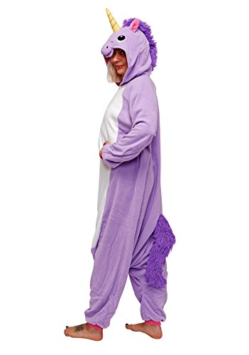 Unicorn Kigurumi (Adults XL, Purple) -