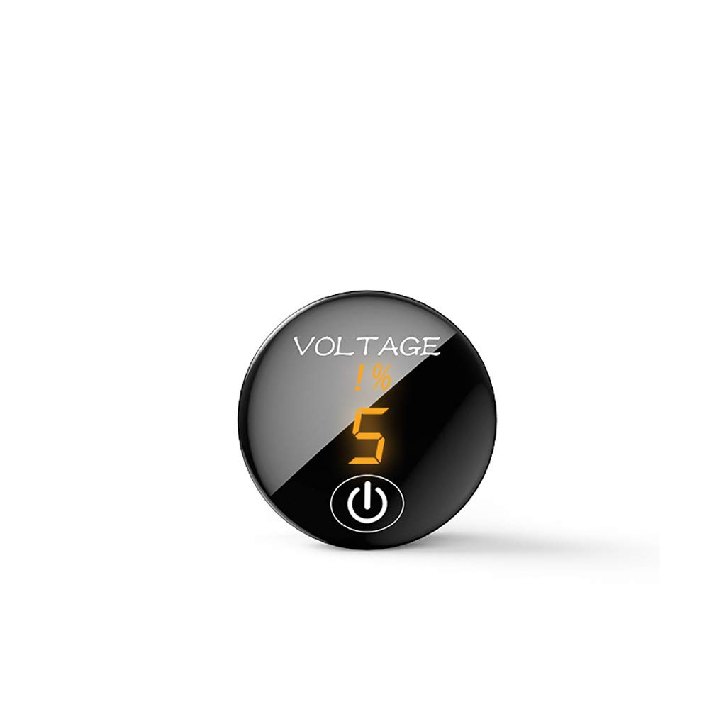 Car Motorcycle DC 5V-48V LED Panel Digital Voltage Meter Battery Capacity Display Voltmeter With ON OFF Switch