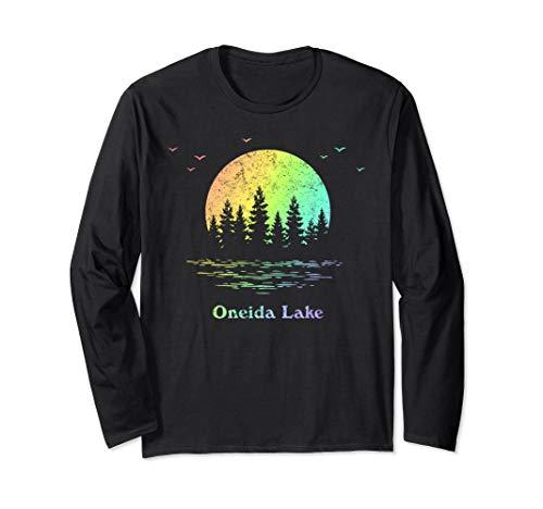 Oneida Lake Outdoor Adventure Family Vacation Rainbow Long Sleeve T-Shirt