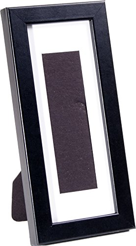 2 Single Booth - CreativePF [pb4x9bk-w] Black Photo Booth Frame Holds Single 2x6-inch Opening 3.5 by 8.5-inch Mat with 2 Way Easel back