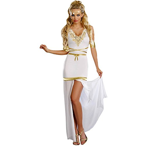 [Goddess of Love Aphrodite Costume - X-Large - Dress Size 14-16] (Dreamgirl Goddess Of Love Aphrodite Costume)