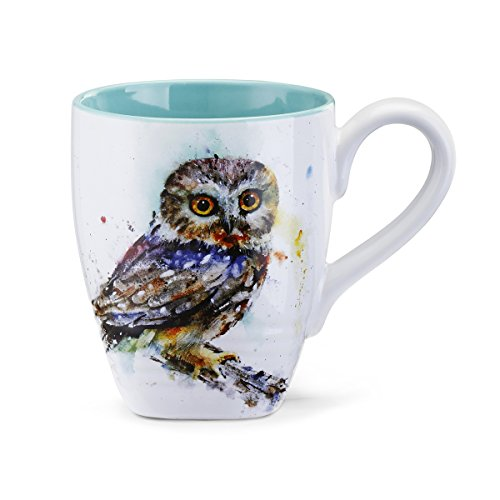 Big Sky Carvers Saw Whet Owl Mug, Multicolor