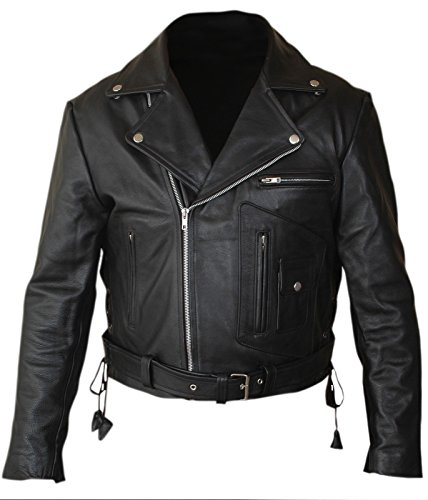 F&H Boy's Terminator 2 Judgment Day Arnold Genuine Leather Jacket S Black