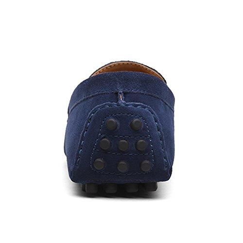 On Scarpe Slip Blu Casuale Penny Mocassini Loafers Scamosciata Navy Eagsouni Uomo Classiche YqTwx0S