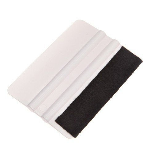 "ABN Felt Edge Squeegee 4"" Inch for Applying Automotive Graphics, Decals, Vinyl Wrap, Tints, and Screen Printing"