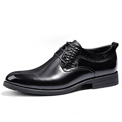 LEDLFIE Herrenschuhe Herren Aus Echtem Leder Business Formal Wear Lederschuhe Black