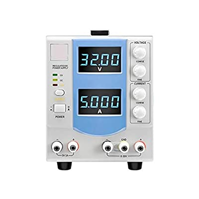 XIAOF-FEN High Precision Adjustable DC Regulated Power Supply Four-Digit Display Linear Regulated Power Supply MCH-305DB Home Improvement Electrical