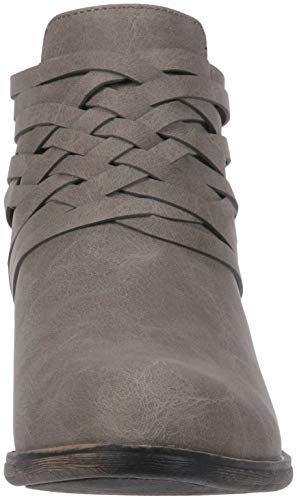 Sugar Women's Rhett Casual Boho Short Bootie with Criss Cross Straps Ankle Boot, Grey Distressed, 9 Medium US by Sugar (Image #4)