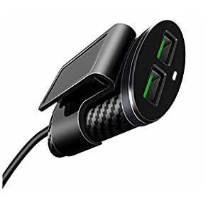 AOKER 25W/4-Port Car Charger, [New] Multi USB Passenger Car Charger, Unique Fast Charger Front/Back Seat Adapter for iPhone 7 6s Plus, iPad Pro Air mini, Galaxy S8 S8+ S7 S6 Edge, LG and More (Black)