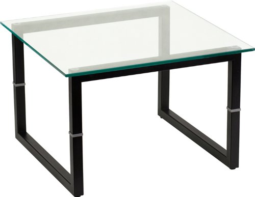 Flash Furniture Glass End Table - 0.5' Thick Glass