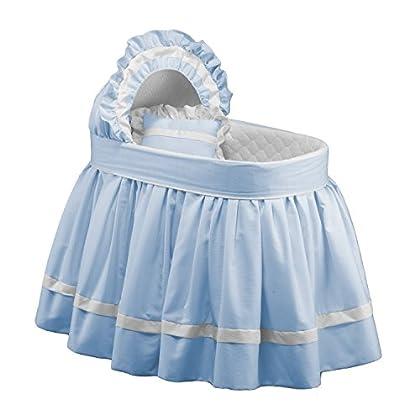 Image of Babydoll Sweet Petite Bassinet Bedding Set, Blue Baby