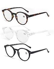 ZENOTTIC Reading Glasses Blue Light Blocking Lens Spring Hinge Readers for Men and Women