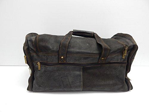 David King & Co. Extra Large Multi Pocket Duffel, Distressed Brown (David Distressed Leather King)
