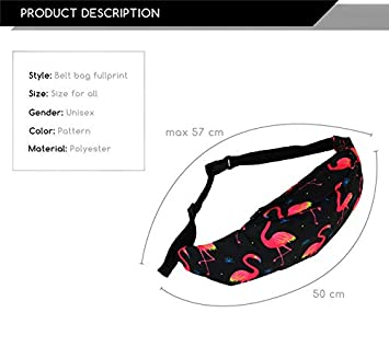 Hwyaobao Waist Packs Women Men Fanny Pack Belt Bag Fruit Print Phone Pouch Bags Travel Waist Pack Nylon Pouch