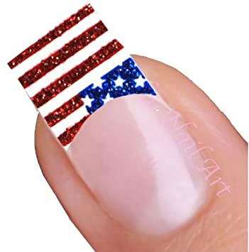Amazon American Flag Nail Art Decal Tattoo Sticker Beauty