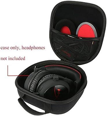 Teckone EVA Funda Estuche Bolso Para HyperX Cloud II - Auriculares de gaming ccerrados micrófono diadema. El bolsillo de malla para otros accesorios: Amazon.es: Videojuegos
