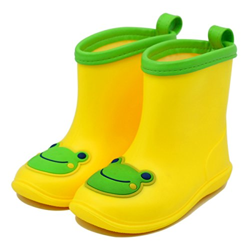 Chadstone Kids Cute Cartoon Rain Boots Toddler Boys Girls Waterproof Anti-skidding Rain Shoes - Yellow - Kids Chadstone