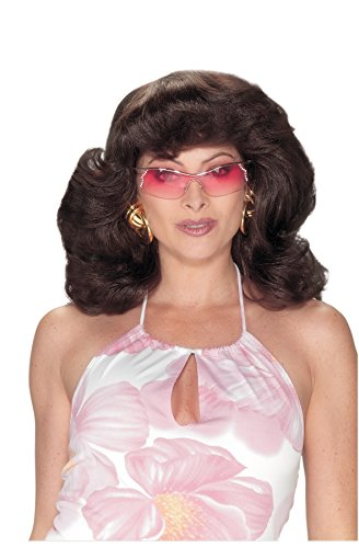 UHC Angels 70S Dark Brown Wig Adult Halloween Costume Accessory (Brown Angel Wig)