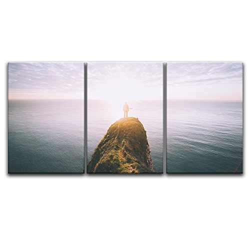 3 Panel Majestic Landscape with the Ocean and a Cliff x 3 Panels