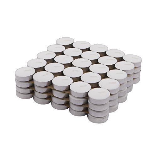 Amazon Brand – Solimo Wax Tealight Candles (Set of 100, Unscented)