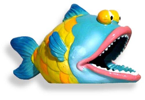 Blue Ribbon Fun Fish - Blue Ribbon Exotic Environments Big Bass Fish Aquarium Ornament, 5-Inch by 2-1/2-Inch by 3-Inch