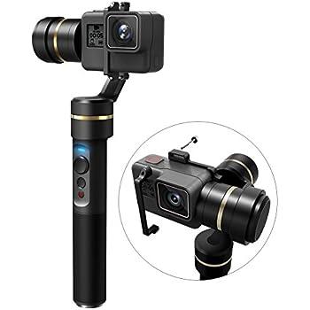 FeiyuTech G5 3-Axis Stabilized Handheld Gimbal for Gopro HERO 5/4/3+/ 3, Yi Cam 4K, AEE Sports Cams, IP67 Waterproof, Anti-Loss Screws, Selfie Ready