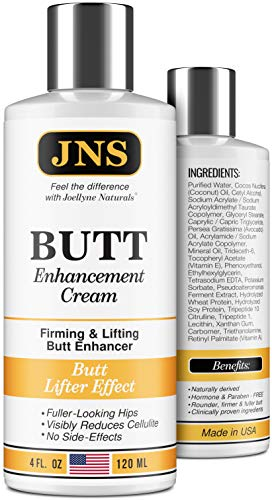 Butt Enhancement Cream - Powerful Butt Enlargement Cream - Made in USA - Firming & Lifting Effect - Hip Lift Up Formula for Fuller Bigger Butt - Natural Buttock Enhancement with out Butt Injections