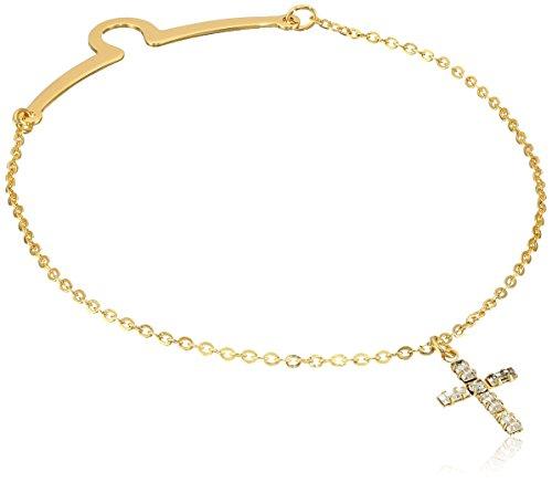 Cross Rhinestone Chain - Status Men's Tie Chain with Rhinestone Cross, Gold, One Size
